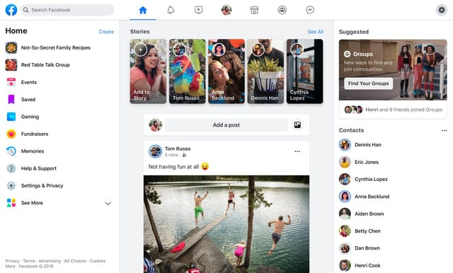 Facebook Unveils Major Redesign of Website and App [Video]